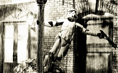 Stormtroopin' in the Rain - Movies, Star Wars, Stormtrooper, Parody