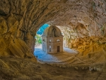 Temple of Valadier Genga Italy