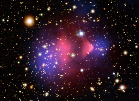 The Matter of the Bullet Cluster - space, cool, stars, galaxies, fun