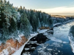 River Gauja in Winter, Latvia