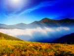 Clouds and Mountain Meadow