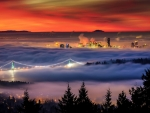 Fog On Vancouver, Canada