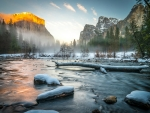 Winter Scene of Yosemite Nat'l. Park, California