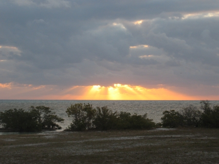Atlantic Sunrise - Atlantic Ocean, Boca Chita Key, Clouds, Sunrise