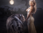 Moon maiden and the white tiger