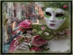 carnival mask with flowers