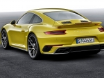 2016 Yellow Porsche 911 Turbo