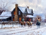 Leaving a Warm House - Horses