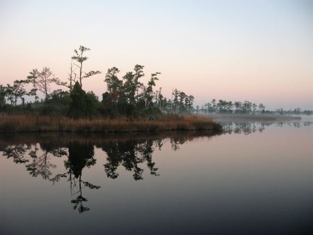 North Dowry Creek - Dowry Creek, Reflections, North Carolina, Morning