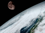 Moon over Planet Earth