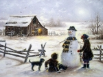 Snowman and Helpers