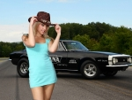 Cowgirl Sarah Peachez and a '67 Camaro SS