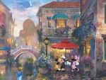 Mickey and Minnie Mouse in Venice