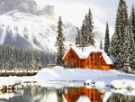 Winter Emerald lake