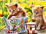 Tea Time for Kitties F