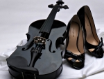Violin and shoes
