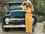 Cowgirl Gia Ramey and a Classic Ford Pickup