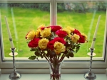 Bouquet at the window