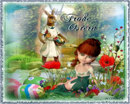 Frohe ostern collages abstract background wallpapers - Ostern wallpaper ...