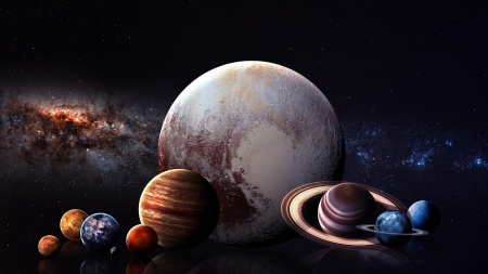 Space Planets - earth, jupitor, mars, 3d, planets, galaxies