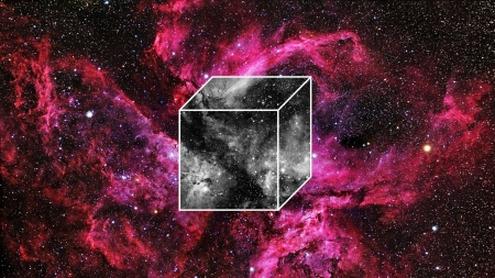 cube in space - space, cool, stars, galaxies, fun