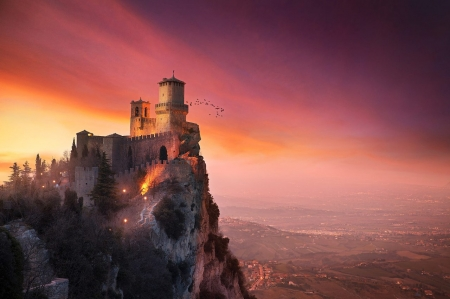 ♥ - abstract, ancient, castle, sky