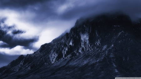 The Dark Mountain - United Kingdom, mountains, Glencoe, Scotland, nature