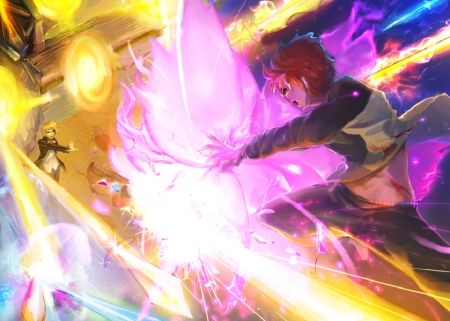 Gilgamesh Vs Shiro - Demigod, Fate Stay Night, Emiya Shiro, Manga, Half God, Gilgamesh, Archer, Anime, Human, Magus, Half Human, Faker, Oldest King, Servant, Master, King Of Heroes