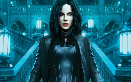 Underworld: Blood Wars (2016) - fantasy, movie, woman, actress, Kate Beckinsale, blue, underworld, girl, vampire, poster, blood wars
