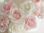 Pink and white decorative flowers