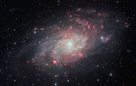 Messier 33, The Triangulum Galaxy - Chile, ESO Paranal Observatory, Messier 33, VLT Survey Telescope, Triangulum Galaxy