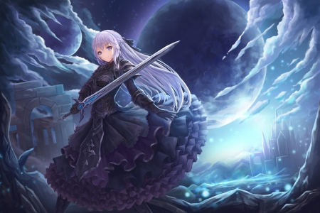 Luna &amp Knight  Ah My Goddess Anime Background