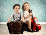 Children and musical instruments