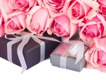 Gifts and Pink Roses