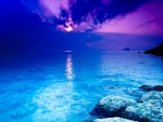 Amazing Blue Sunset