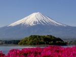 Snowy Peak of Mount Fuji