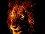 glowing lion