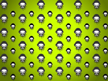Skull wallpaper | Etsy