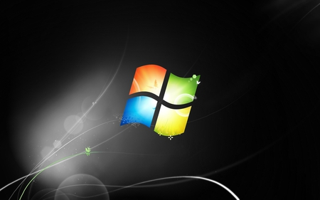 Windows 7 Ultimate Wallpaper - Windows 7 - cool, 7, black, windows, windows 7, abstract, dark, seven, grey, microsoft, windows logo