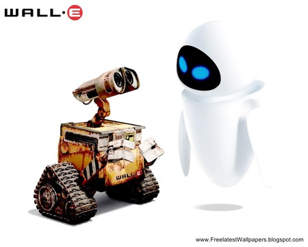 wall-E + eve - cute, two, love