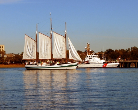 Tourist Schooner - Charleston, Sailing Vessel, South Carolina, Schooner