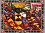 Quilted Cat F