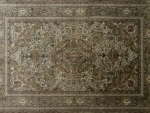 Exquisitely hand woven silk rug