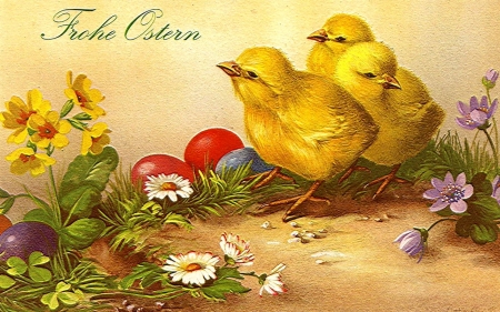 Frohe ostern birds animals background wallpapers on - Ostern wallpaper ...