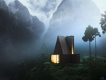 House in the Mountain Mist