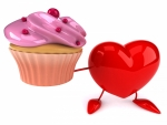 A cupcake with love!