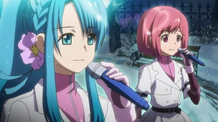 Chieri & Nagisa - Idol, Motomiya, Chieri, Sono, Girl, Girls, Nagisa, Anime, AKB0048