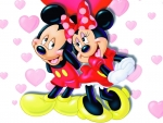 Mickey and Minnie Mouse in love