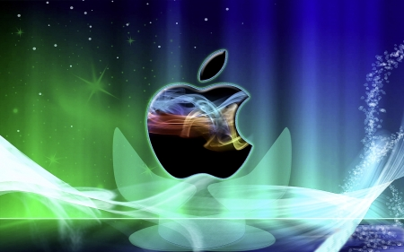 Colorful apple design - logo, mobile, digital, company, view, art, apple, imac, color, beautiful, iphone, cellular, design