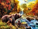 Bears at the Stream F